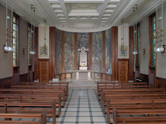 La chapelle, vue d'ensemble depuis la nef