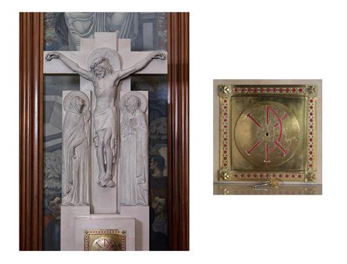 Choeur, retable et tabernacle