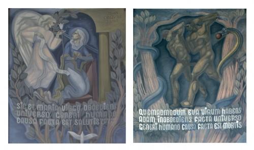 Jean Coquet, Adam et Eve chassés du Paradis et Annonciation