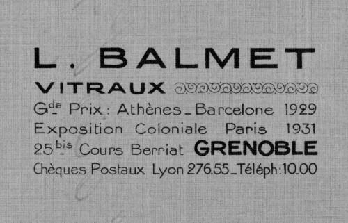 Papier à en-tête de la maison Balmet, 1938-1940.