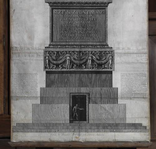 Fig. 4. Partie inférieure de la gravure : piédestal et base de la colonne
