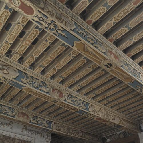 Château de Vaugirard, Champdieu (Loire). Plafond de la grande salle du premier étage