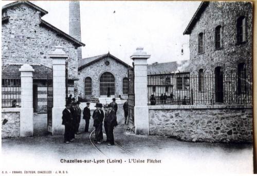 Usine Fléchet, carte postale (Repro. Nadine Halitim-Dubois © Région Rhône-Alpes, Inventaire général du patrimoine culturel, 2005, ADAGP).