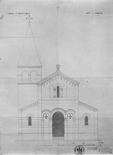 Projet de Pierre Martin pour l'église paroissiale de Saint-André-des-Effangeas