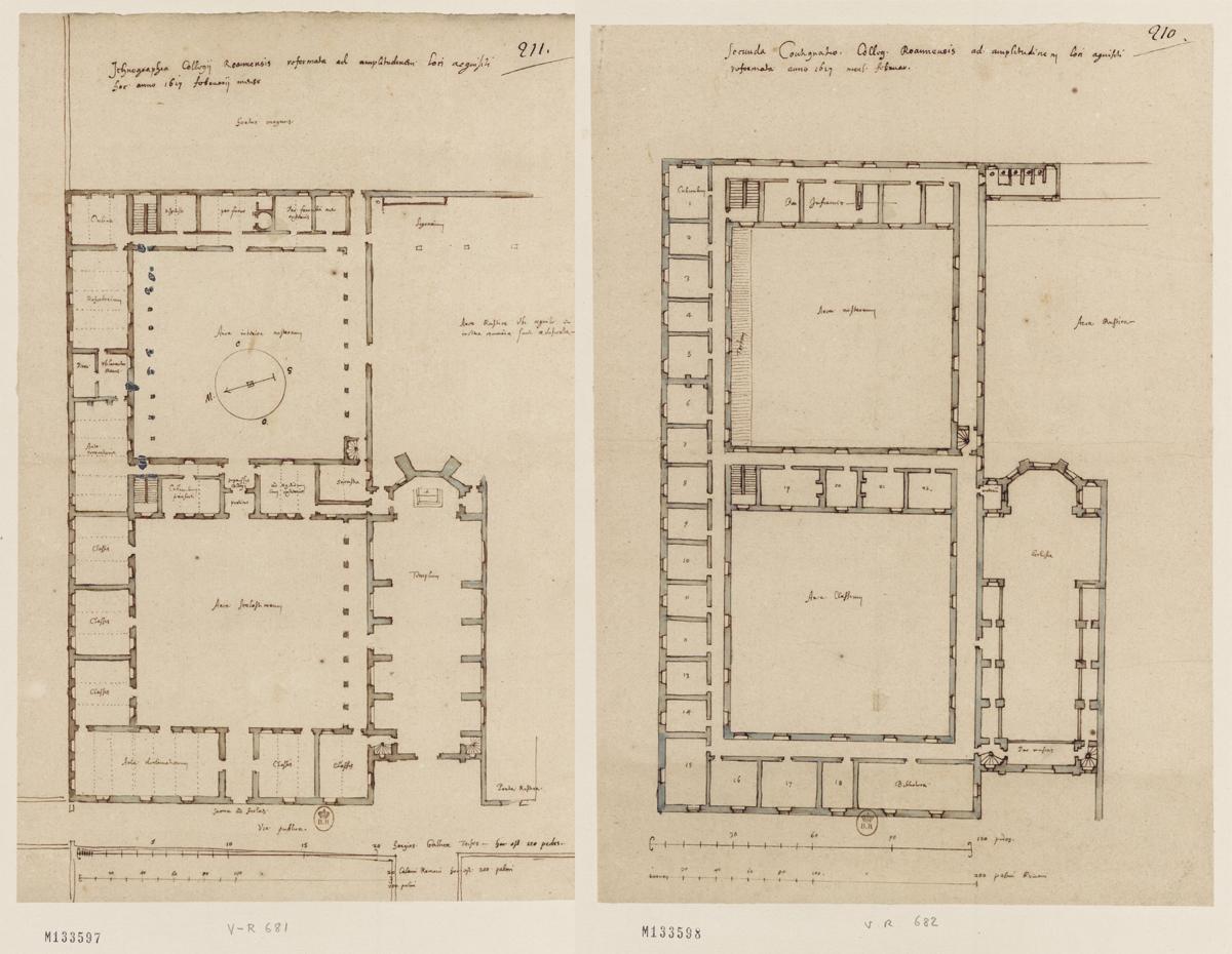 Plan du rez-de-chaussée du collège de Roanne