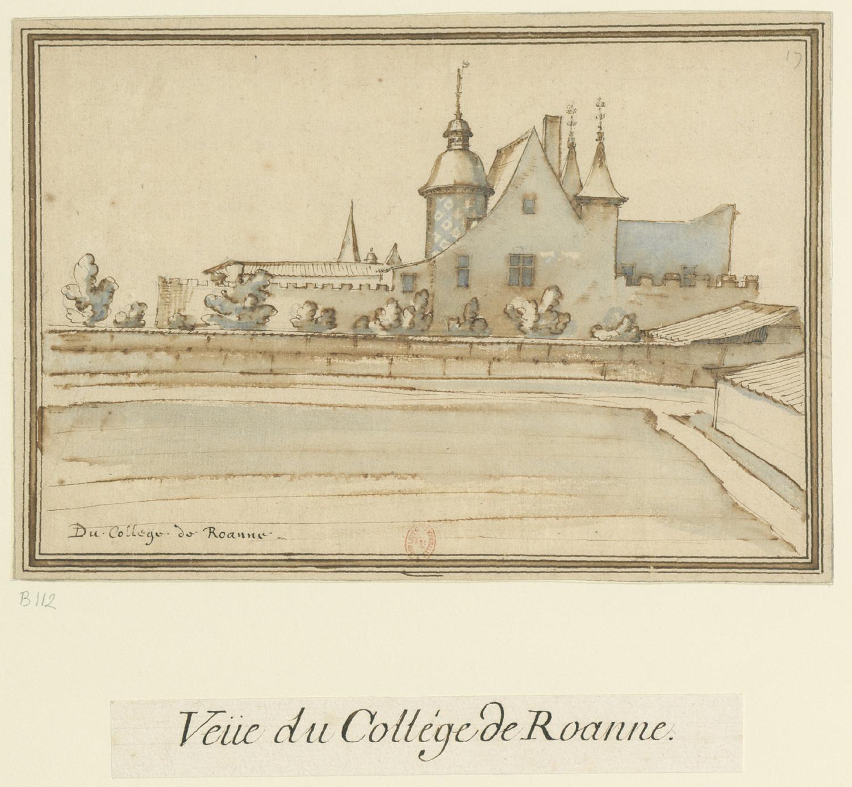 Fig. 2. Du collège de Roanne, [s.d.] [31 décembre 1610], BnF, Ub 9, f. 112