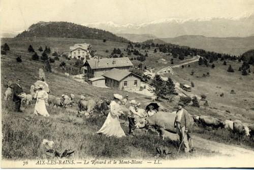 Etrangers venus d'Aix visitant le Revard. © Archives municipales d'Aix-les-Bains.