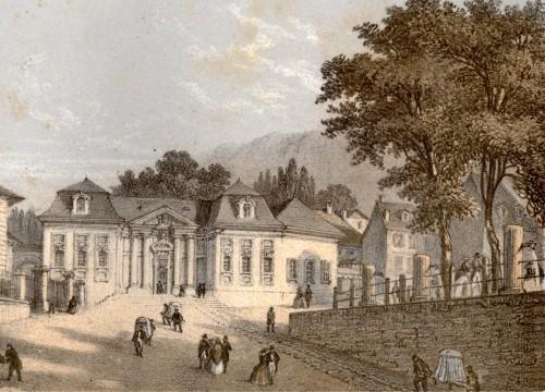 Le Bâtiment royal des Bains. Deroy et Muller, vers 1855. © Archives municipales d'Aix-les-Bains.