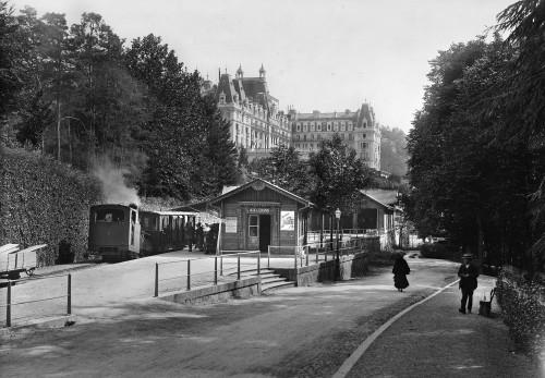 Fig. 16. La gare de départ de la crémaillère. Fin XIXe siècle. © Archives municipales d'Aix-les-Bains.