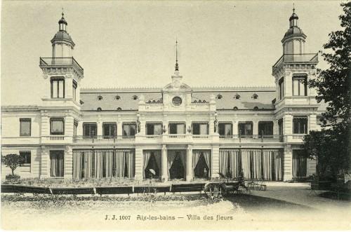 Villa des Fleurs. Julien Frères. Fin XIXe siècle. © Archives municipales d'Aix-les-Bains.