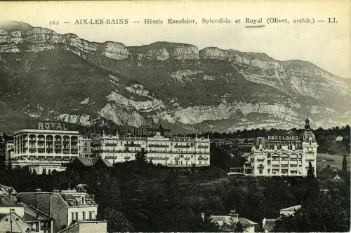 Palaces Rossignoli. Vers 1920. © Archives municipales d'Aix-les-Bains.