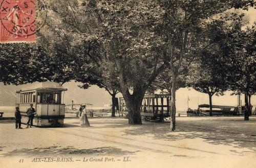 Le Grand Port desservi par le tramway. © Archives municipales d'Aix-les-Bains.