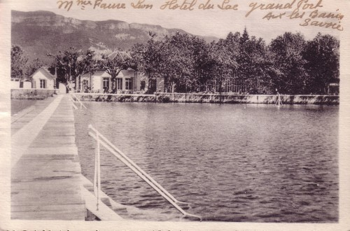 ARTICLE-LAC - Carte anonyme - Grand Port - Hostellerie du Grand Poète - vers 1940. Recadrée