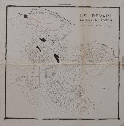 Plan du lotissement A, 1956 ( Repro. Denys Harreau - 2016 © Archives municipales d'Aix-les-Bains)