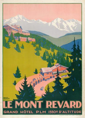 Affiche publicitaire de la Cie PLM, 1927 (© Archives municipales d'Aix-les-Bains)