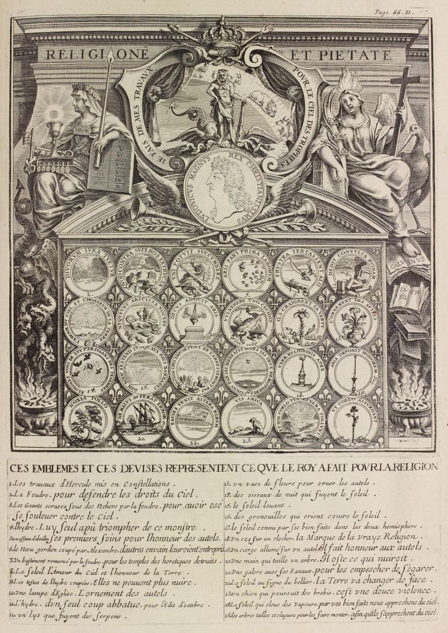 Ce que le R a fait pour la Religion, estampe d'après Pierre-Paul Sevin (dess.)oy