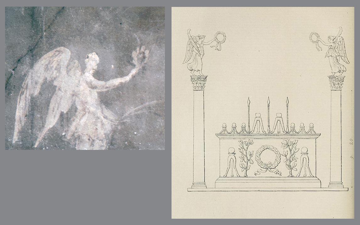 Ill. 12. Autel de Rome et d'Auguste, reconstitution in Spon, Recherches d'antiquités et curiosités, éd. Monfalcon, 1857