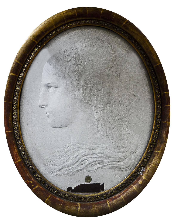 Anonyme. Tête de Charlotte Corday, début XIXe s.